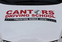 Cantor's Drivings School car hood